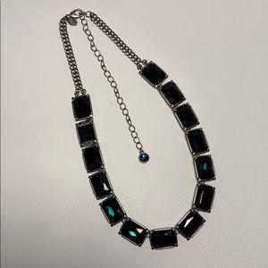 Lia Sophia blue gemstone necklace EUC